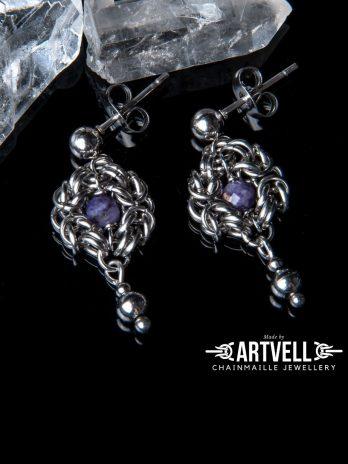 Kolczyki ze stali sztyfty Romanov Amulettes CZAROIT