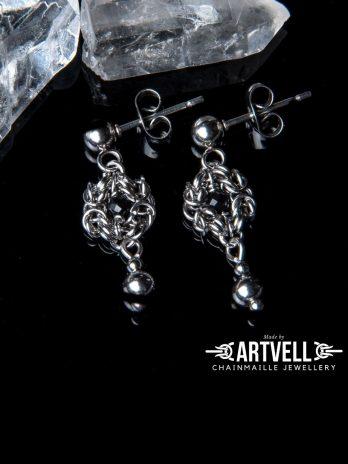 Kolczyki Romanov Amulettes CZARNY TURMALIN